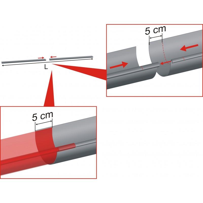 Goutti re zinc demi ronde d velopp 33 et longueur 4 m tres - Gouttiere zinc sans soudure ...