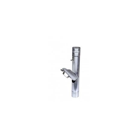 Recupérateur d'eau à clapet Zinc D60