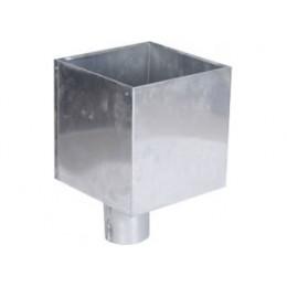 Goutti re zinc demi ronde 33 100 au meilleur prix for Descente eau pluviale zinc