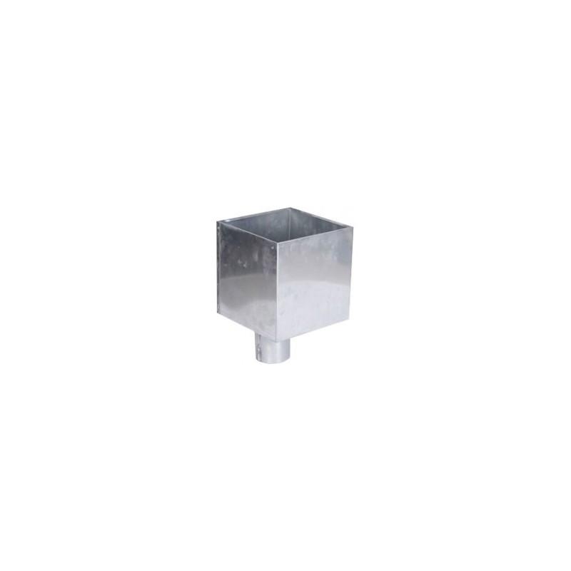 boite a eau zinc 300x300 sortie 100. Black Bedroom Furniture Sets. Home Design Ideas