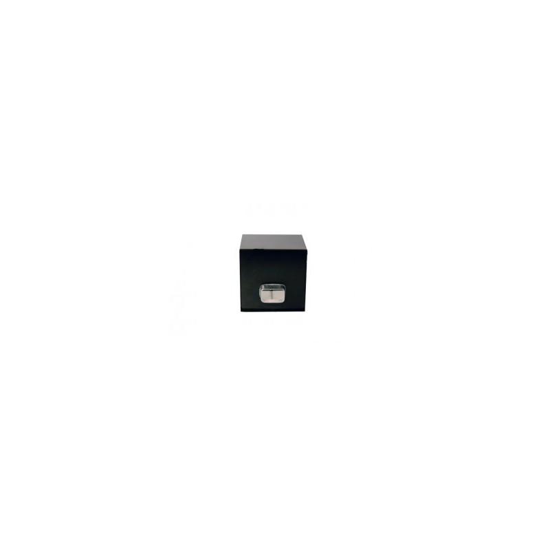 bo te eau aluminium noir 200 x 200 sortie rectangulaire 60 x 80 gouttiere online. Black Bedroom Furniture Sets. Home Design Ideas