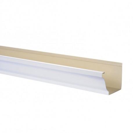 goutti re aluminium blanc 3 m tres gouttiere online. Black Bedroom Furniture Sets. Home Design Ideas