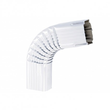 COUDE LATERAL 1  ALU  BLANC