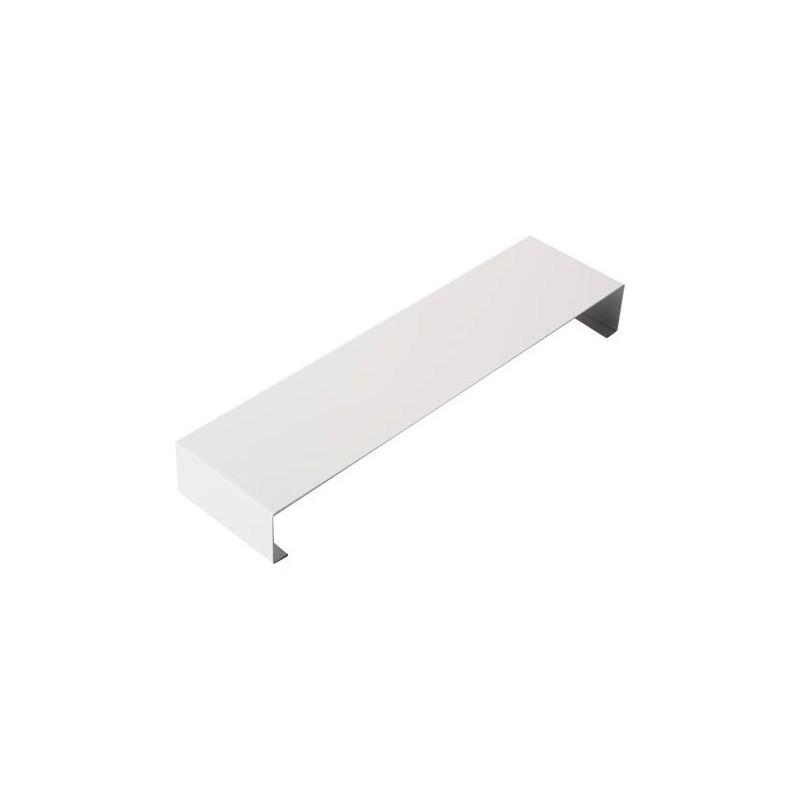 eclisse pour couvertine aluminium blanc ral 9010 1 mm goutti re online. Black Bedroom Furniture Sets. Home Design Ideas