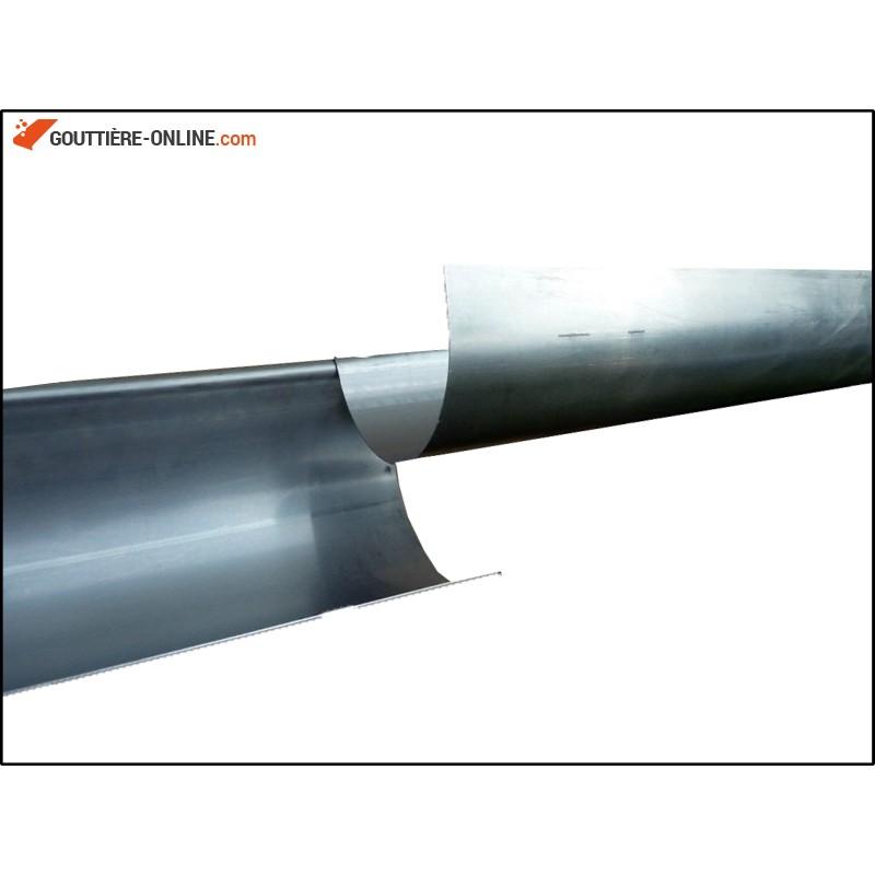 Gouttiere Zinc Developpe 25 Longueur 2 Metres