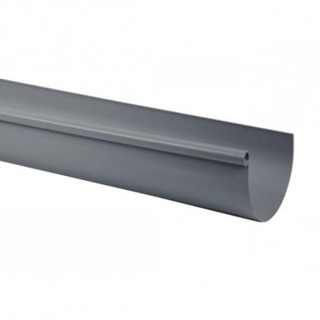 Goutti re pvc gris demi ronde 25 4 m tres goutti re online for Gouttiere demi ronde zinc