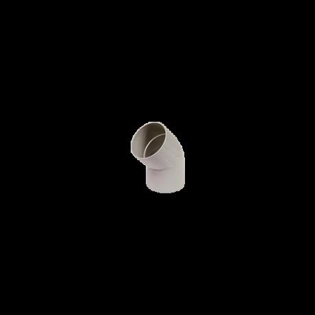 Coude PVC  45° M/F gris 80