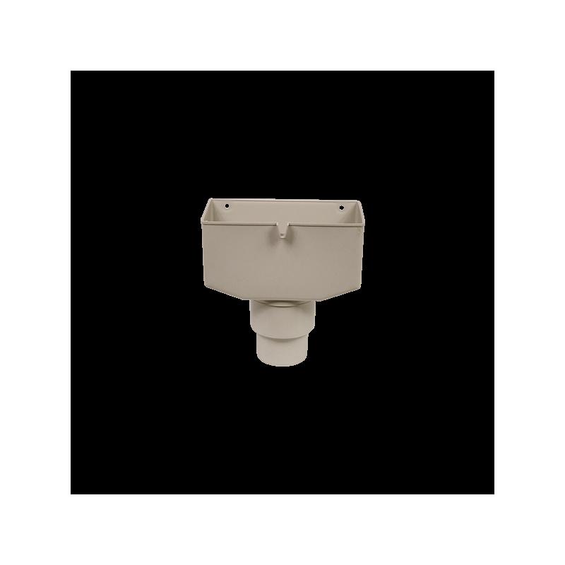 boite eau pvc gris 25 80 goutti re online. Black Bedroom Furniture Sets. Home Design Ideas