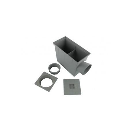 regard de descente rectangulaire pluviale pvc gris sortie. Black Bedroom Furniture Sets. Home Design Ideas