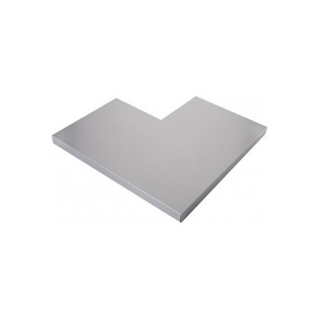 ANGLE COUVERTINE ALUMINIUM GRIS ANTHRACITE 7016 1MM - 45 X 45 CM
