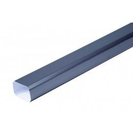 Dévoiement 50 CM  aluminium LISSE Gris ardoise