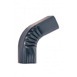 Coude frontal (2)  extérieur aluminium LISSE Gris ardoise