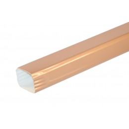 Tuyau de descente Rectangulaire aluminium LISSE Miel - 2 mètres