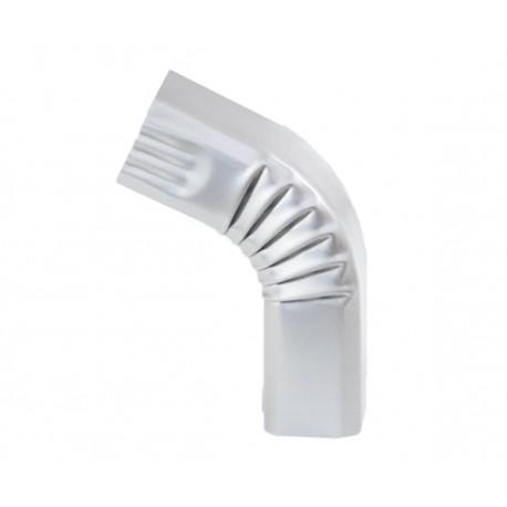 Coude frontal (2)  extérieur aluminium LISSE Gris métal