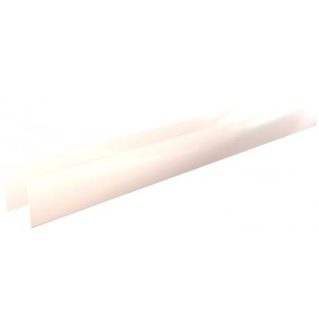 Pliage Aluminium en U sable RAL 1015 1 mm - 2 mètres