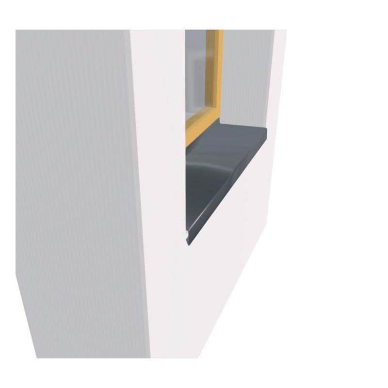 Appuis de fen tre zinc naturel 0 65 mm 2 m tres for Appuis de fenetre en aluminium