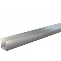Pliage Aluminium en U zinc quartz 0,65 mm - 2 mètres