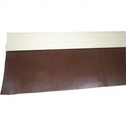SOLIN MASTIC SABLE BAVETTE ALUMINIUM MARRON 200mm - 2ML
