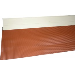 SOLIN MASTIC SABLE BAVETTE ALUMINIUM ROUGE TUILE 200mm - 2ML