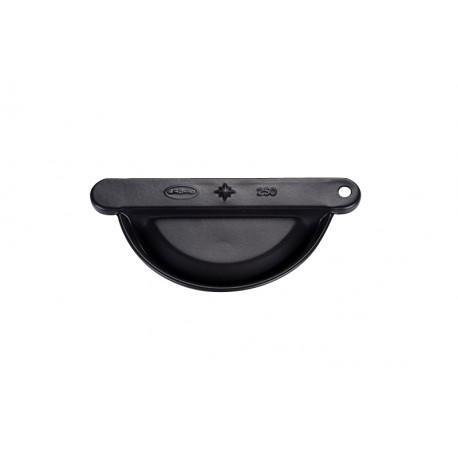 Talon emboitable réversible Aluminium 25 Noir 9005