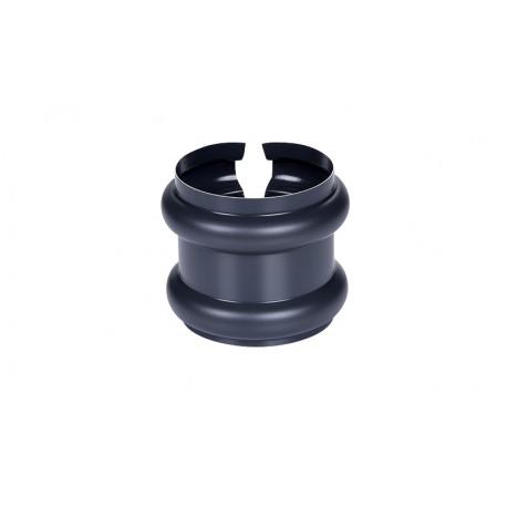 Bague double extensible Aluminium 80 mm Gris anthracite 7016
