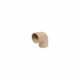 Coude 87° M/F PVC sable 80
