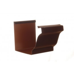 JONCTION GOUTTIERE ALUMINIUM MARRON
