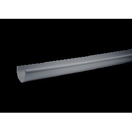 Gouttière PVC demi-ronde 25/80 gris