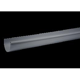 Gouttière PVC demi-ronde 33/100 gris