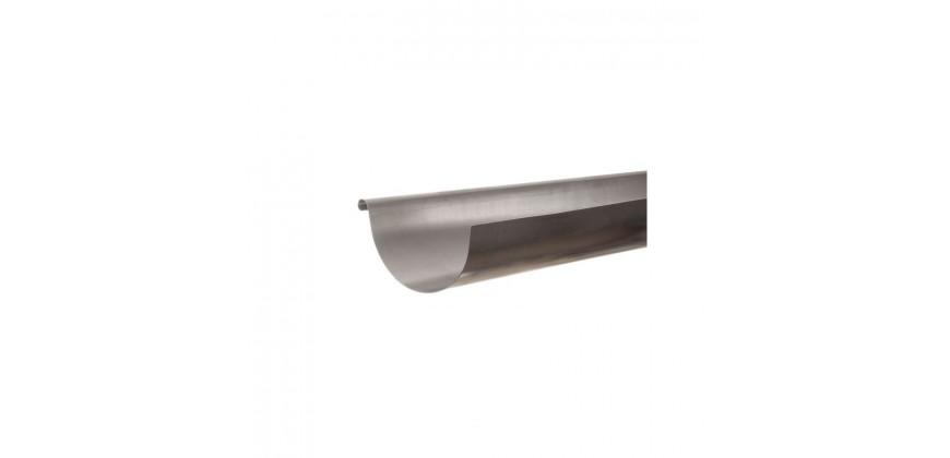Gouttière acier galvanisé demi-ronde 25/80