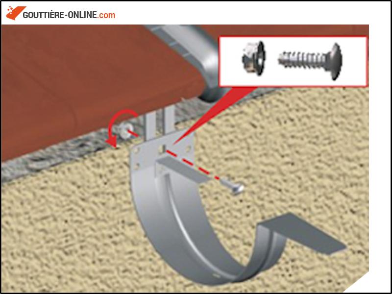 fixation fibro acier galvanis gouttiere online. Black Bedroom Furniture Sets. Home Design Ideas