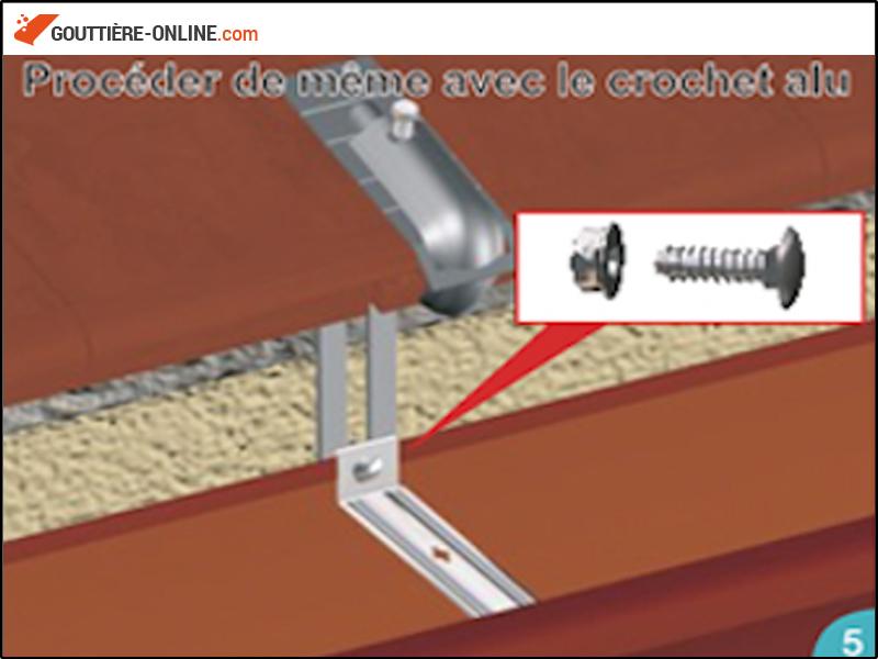 fixation tuile acier couleur tuile gouttiere online. Black Bedroom Furniture Sets. Home Design Ideas