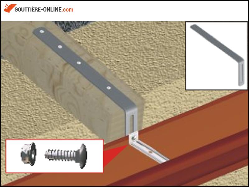 hampe droite 335 acier galvanis gouttiere online. Black Bedroom Furniture Sets. Home Design Ideas