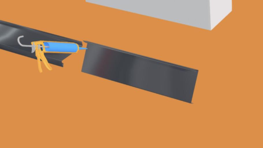 Appuis de fen tre gris anthracite ral 7016 1 mm 2 m tres for Appuis de fenetre aluminium