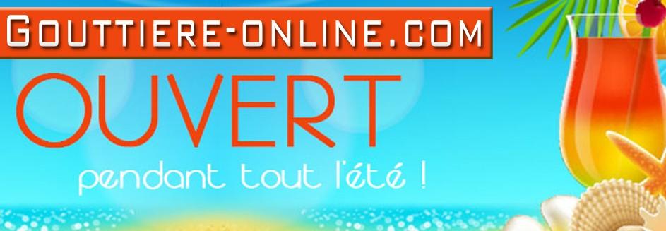 Gouttiere Online ouvert été